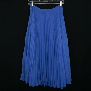 NWOT Zara Woman Silk Pleated Accordion Skirt XS
